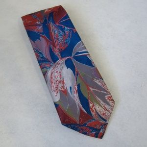 G Rinoldi Neck Tie Flower Leaf Floral